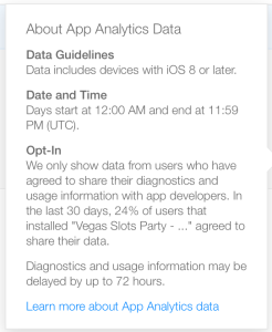 apple app analytics details