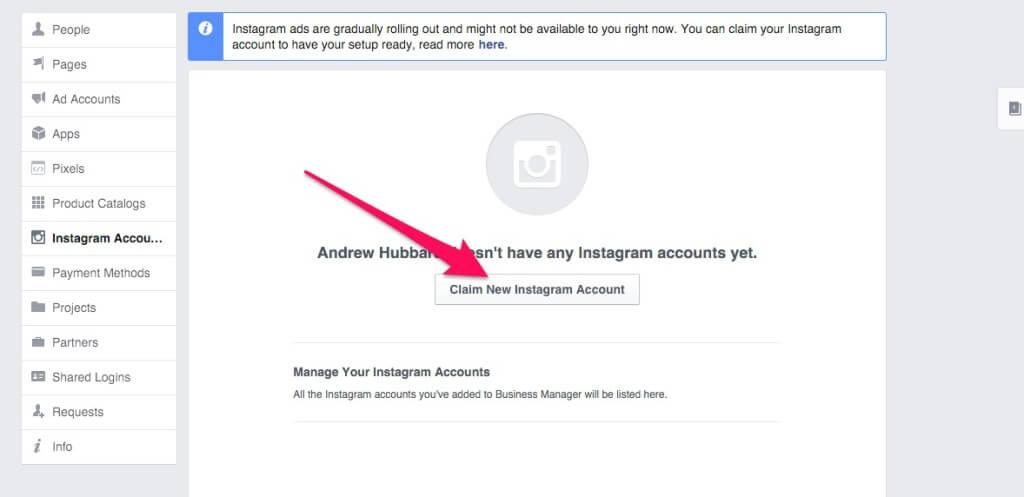 Claim Instagram Account