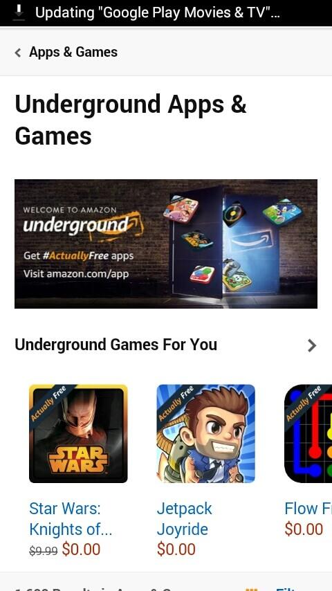 free apps monetize with amazon underground