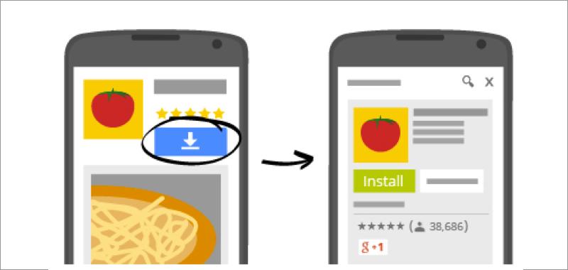 App install ads in Google